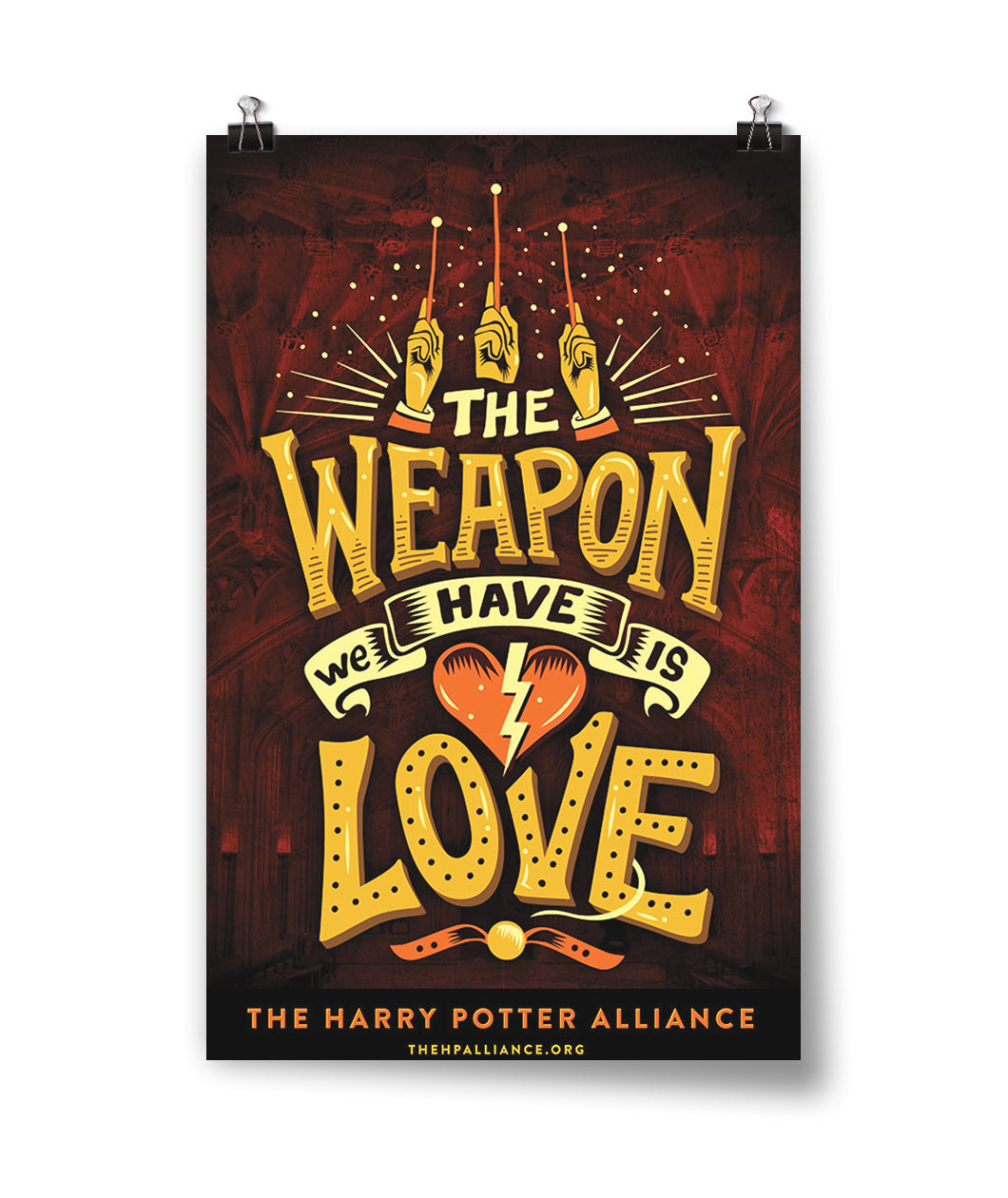 Weapon We Have is Love Poster - Staff