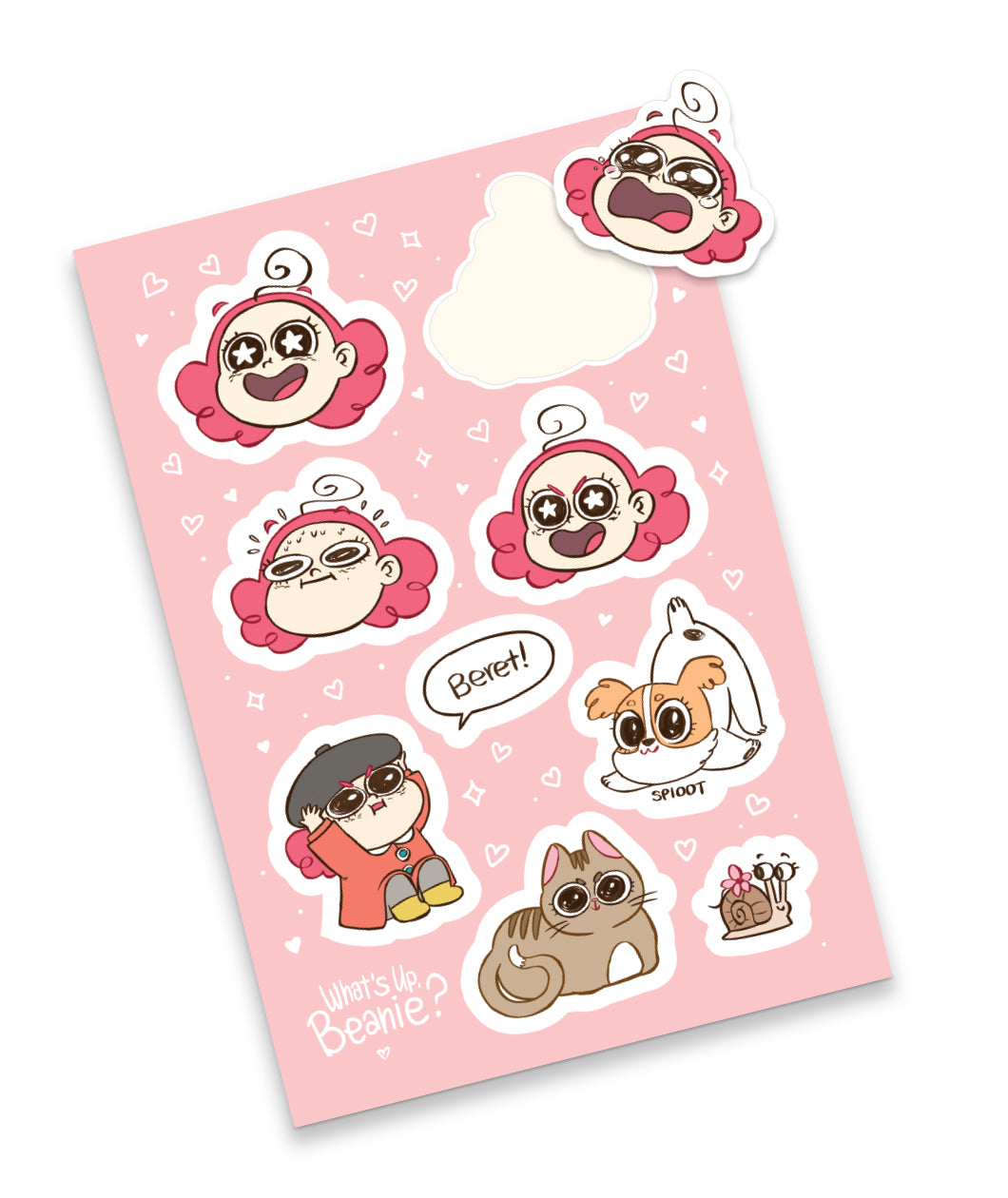 Whats Up Beanie Stickers