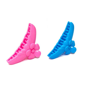 Anokhi Ada Plastic Hair Clutcher / Hair Claw for Girls and Women (Multi-Colour; Pack of 2; 02-18C)