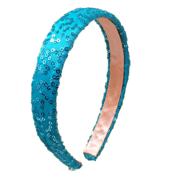 Anokhi Ada Handmade Fabric Stylish Hairband/Headband for Girls and Women (Sky Blue)-04-20H