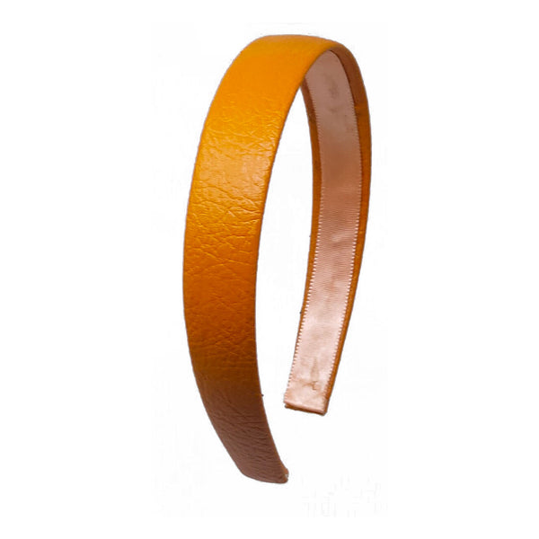 Anokhi Ada Faux  Leather on Plastic Hairband/Headband for Girls and Women (Orange)-05-01H