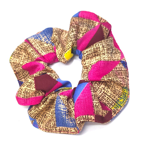 Anokhi Ada Handmade Large Printed Fabric Scrunchies/Ponytail Holders for Girls and Women (Multi-Colour)-05-14H