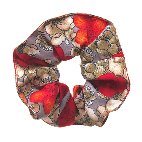 Anokhi Ada Handmade Large Printed Fabric Scrunchies/Ponytail Holders for Girls and Women (Multi-Colour)-05-15H
