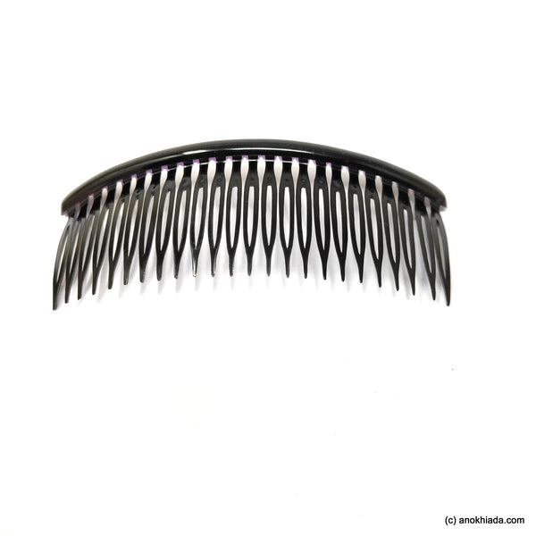 Anokhi Ada Hair Comb Clip for Women and Girls, Black (07-17)