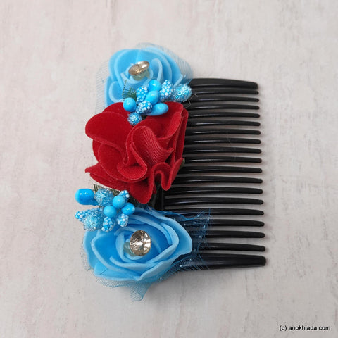 Anokhi Ada Floral Hair Comb Clip for Women and Girls, Multi-Colour (07-19)