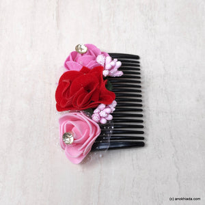 Anokhi Ada Floral Hair Comb Clip for Women and Girls, Multi-Colour (07-20)