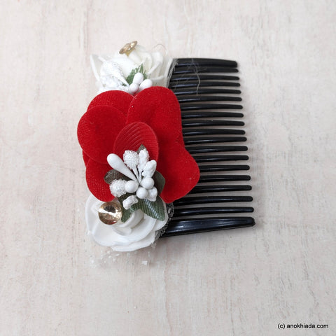 Anokhi Ada Floral Hair Comb Clip for Women and Girls, Multi-Colour (07-22)