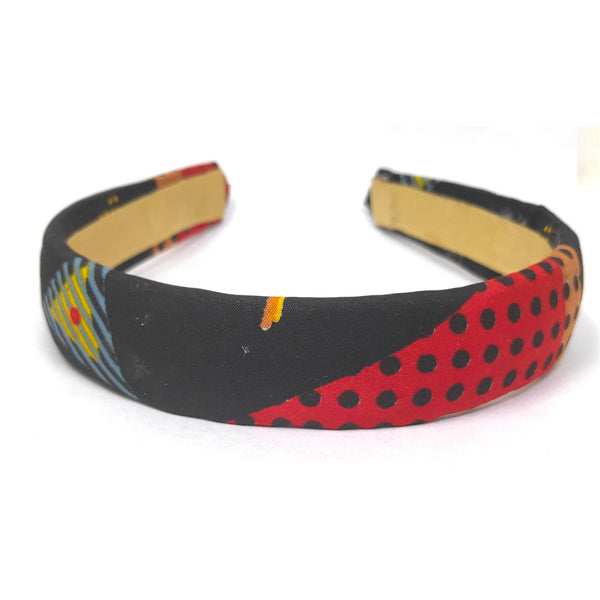 Anokhi Ada Handmade Fabric Hairband/Headband for Girls and Women (Black)-09-19H