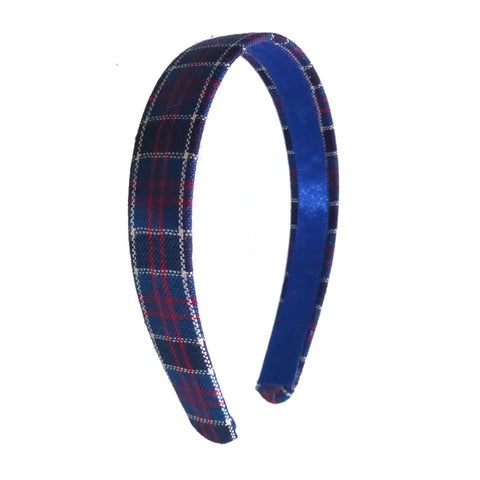 Anokhi Ada Handmade Multi-colour Check Design Fabric Hairband/Headband for Girls and Women -14-06H