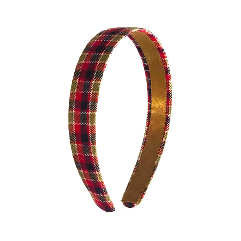 Anokhi Ada Handmade Multi-colour Check Design Fabric Hairband/Headband for Girls and Women -14-08H
