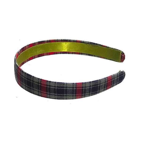 Anokhi Ada Handmade Multi-colour Check Design Fabric Hairband/Headband for Girls and Women -14-09H