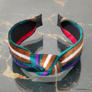 Anokhi Ada Handmade Multi-Colour Velvet Knot Hairband/Headband for Girls and Women -14-22H