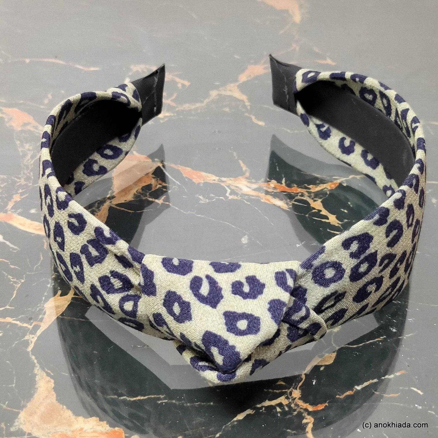 Anokhi Ada Handmade Multi-Colour Tiger Print Fabric Knot Hairband/Headband for Girls and Women -14-36H