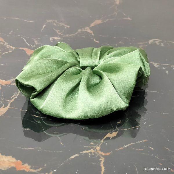 Anokhi Ada Handmade Satin Scrunchie for Girls and Women (15-163 Scrunchie)