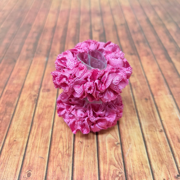 Anokhi Ada Pink Fabric small Scrunchie for Girls and Women (15-20 Scrunchie, 2 Pcs)