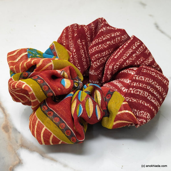 Anokhi Ada Handmade Stylish Fabric Scrunchie for Girls and Women (15-205 Scrunchie)