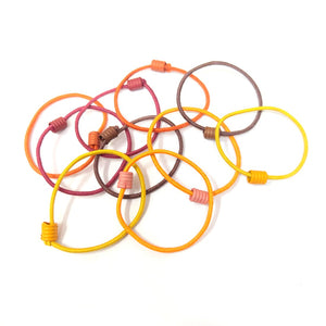 Anokhi Ada small size Elastic Rubber for Girls and Women (15-22 Ponytail Holders, 10 Pcs Assorted Colour Rubber)