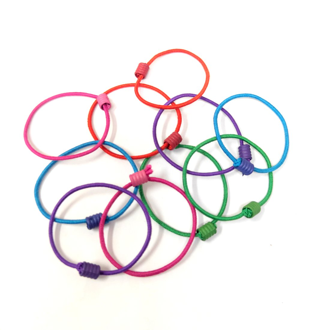 Anokhi Ada small size Elastic Rubber for Girls and Women (15-23 Ponytail Holders, 10 Pcs Assorted Colour Rubber)