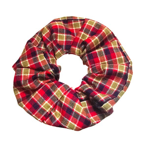 Anokhi Ada Handmade Multi-Colour Check Pattern Fabric Scrunchie for Girls and Women (15-52 Scrunchie)