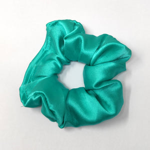 Anokhi Ada Turquoise Satin Scrunchie for Girls and Women (15-60 Scrunchie)