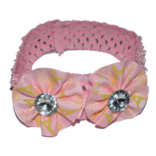 Floral Soft Stretchy Headbands for Baby Girls and Newborn (17-08 Baby Pink Baby Headband)