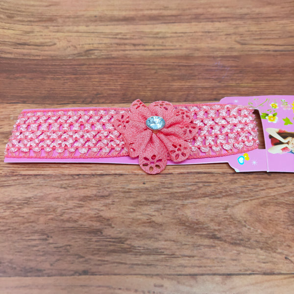 Floral Soft Stretchy Headbands for Baby Girls and Newborn (17-19 Baby Headband)