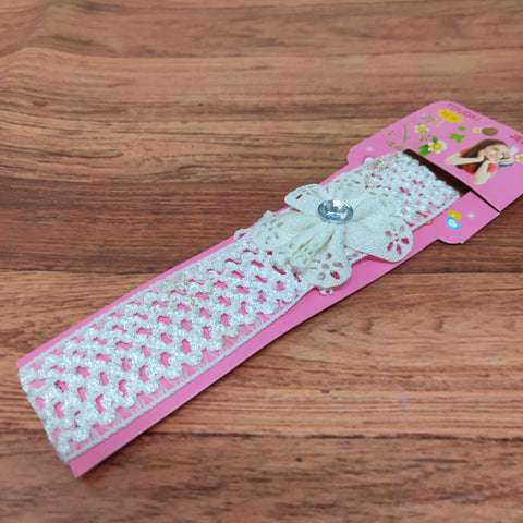 Floral Soft Stretchy Headbands for Baby Girls and Newborn (17-21 Baby Headband)