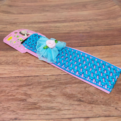 Floral Soft Stretchy Headbands for Baby Girls and Newborn (17-25 Baby Headband)