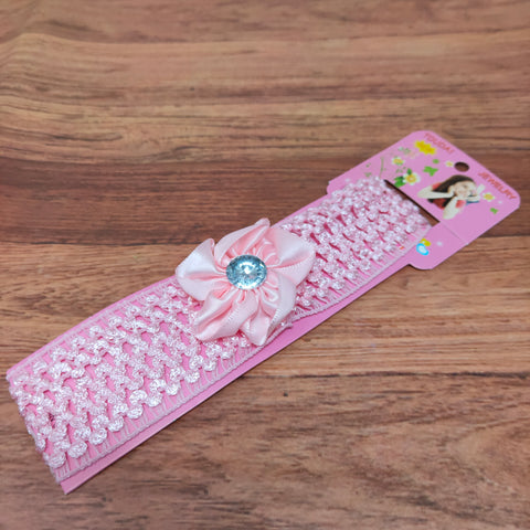 Floral Soft Stretchy Headbands for Baby Girls and Newborn (17-31 Baby Headband)