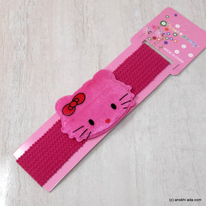 Kitty Dark Pink Soft Stretchy Headbands for Baby Girls and Girls (17-45)