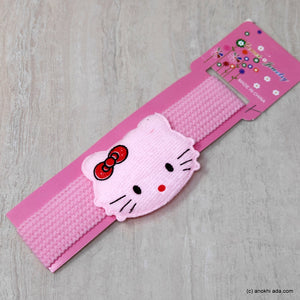Kitty Baby Pink Soft Stretchy Headbands for Baby Girls and Girls (17-46)