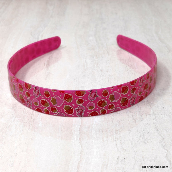 Anokhi Ada Plastic Strawberry Print Headbands/Hairbands for Kids and Girls (19-5a)