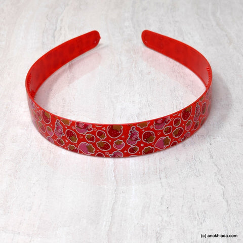Anokhi Ada Plastic Strawberry Print Headbands/Hairbands for Kids and Girls (19-5d)