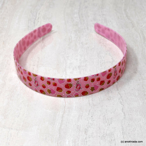 Anokhi Ada Plastic Strawberry Print Headbands/Hairbands for Kids and Girls (19-5e)