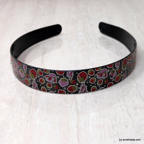 Anokhi Ada Plastic Strawberry Print Headbands/Hairbands for Kids and Girls (19-5f)