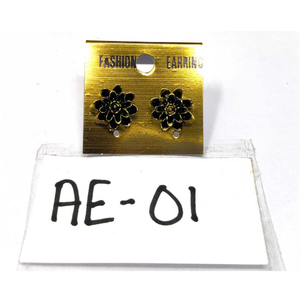 Anokhi Ada Metal Studs Earrings for Girls and Women ( Copper )-AE-01