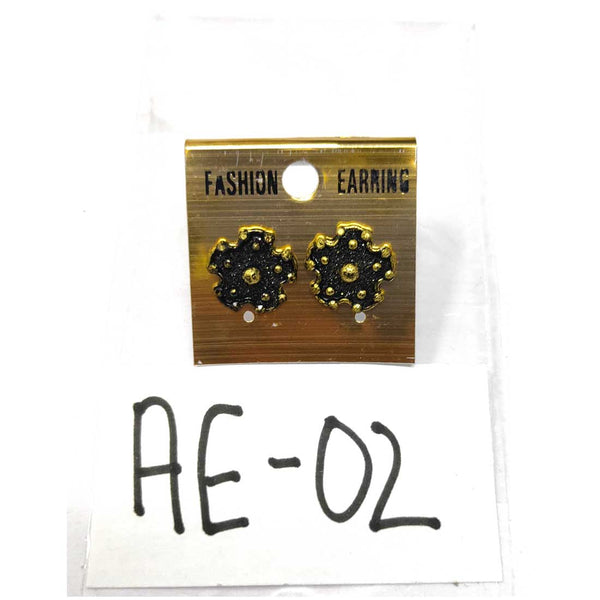 Anokhi Ada Metal Studs Earrings for Girls and Women ( Copper )-AE-02