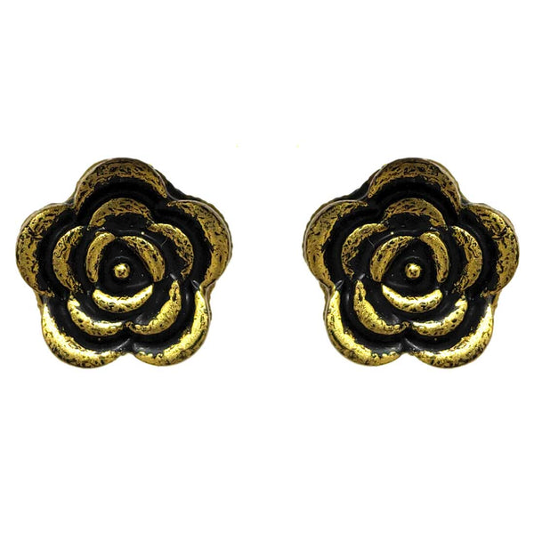 Anokhi Ada Metal Studs Earrings for Girls and Women ( Copper )-AE-03