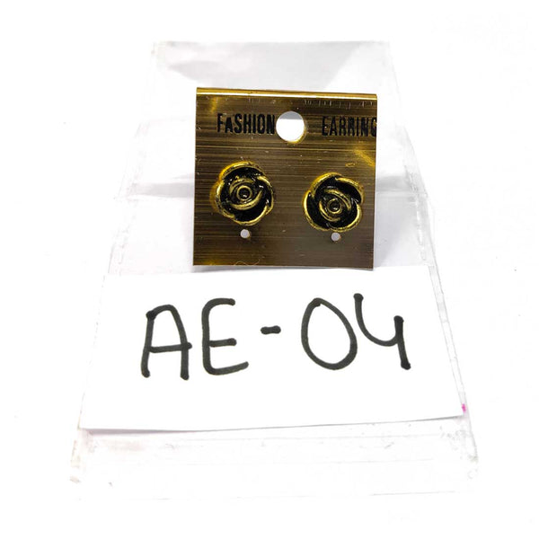 Anokhi Ada Metal Studs Earrings for Girls and Women ( Copper )-AE-04