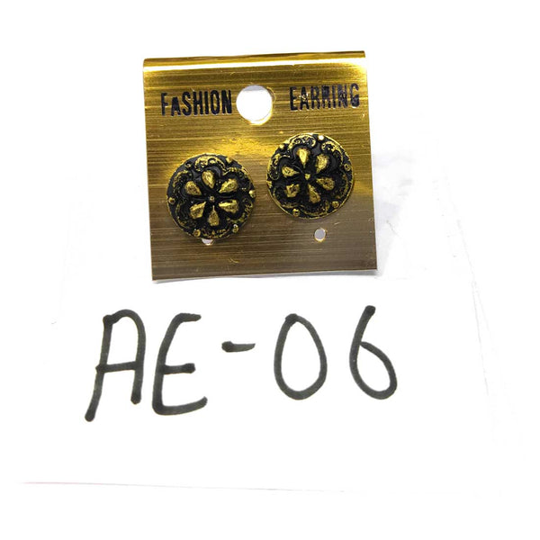 Anokhi Ada Metal Studs Earrings for Girls and Women ( Copper )-AE-06