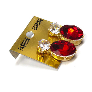 Anokhi Ada Metal Drop and Dangle Earrings for Girls and Women (Red)-AK-01