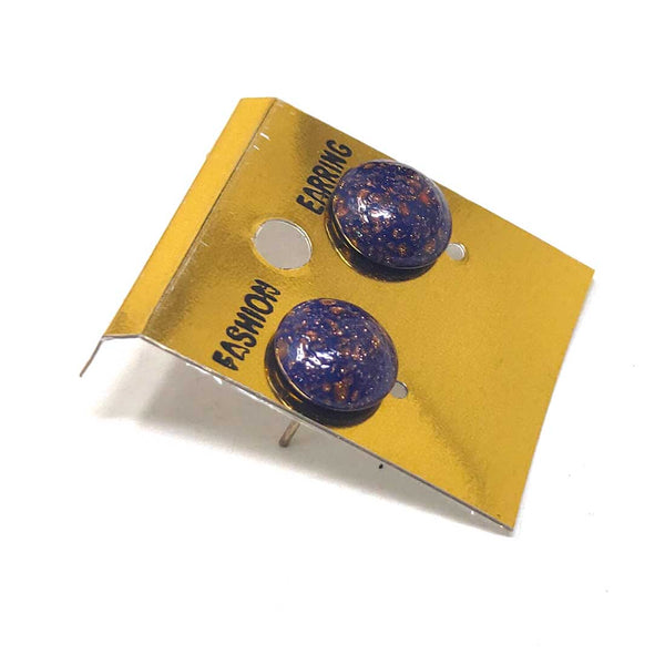 Anokhi Ada Glass Stud Earrings for Girls and Women (Violet)-AM-14