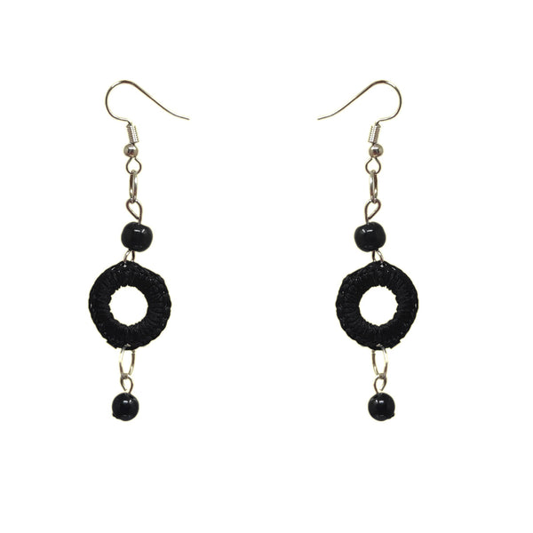 Anokhi Ada Black Handmade Pearl Earring for Girls and Women (AN-17)