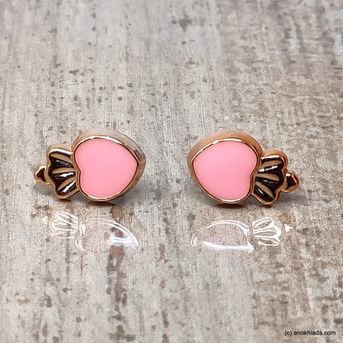 Anokhi Ada Pink Small Squid Plastic Stud Earrings for Girls (AR-22t)