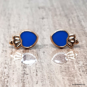 Anokhi Ada Blue Small Squid Plastic Stud Earrings for Girls (AR-22v)