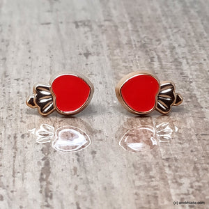 Anokhi Ada Red Small Squid Plastic Stud Earrings for Girls (AR-22w)