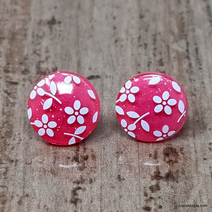 Anokhi Ada Small Round Plastic Stud Earrings for Girls ( Pink, AR-27d )