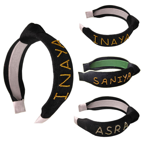 Anokhi Ada Name Knot Headband-(Black-001)