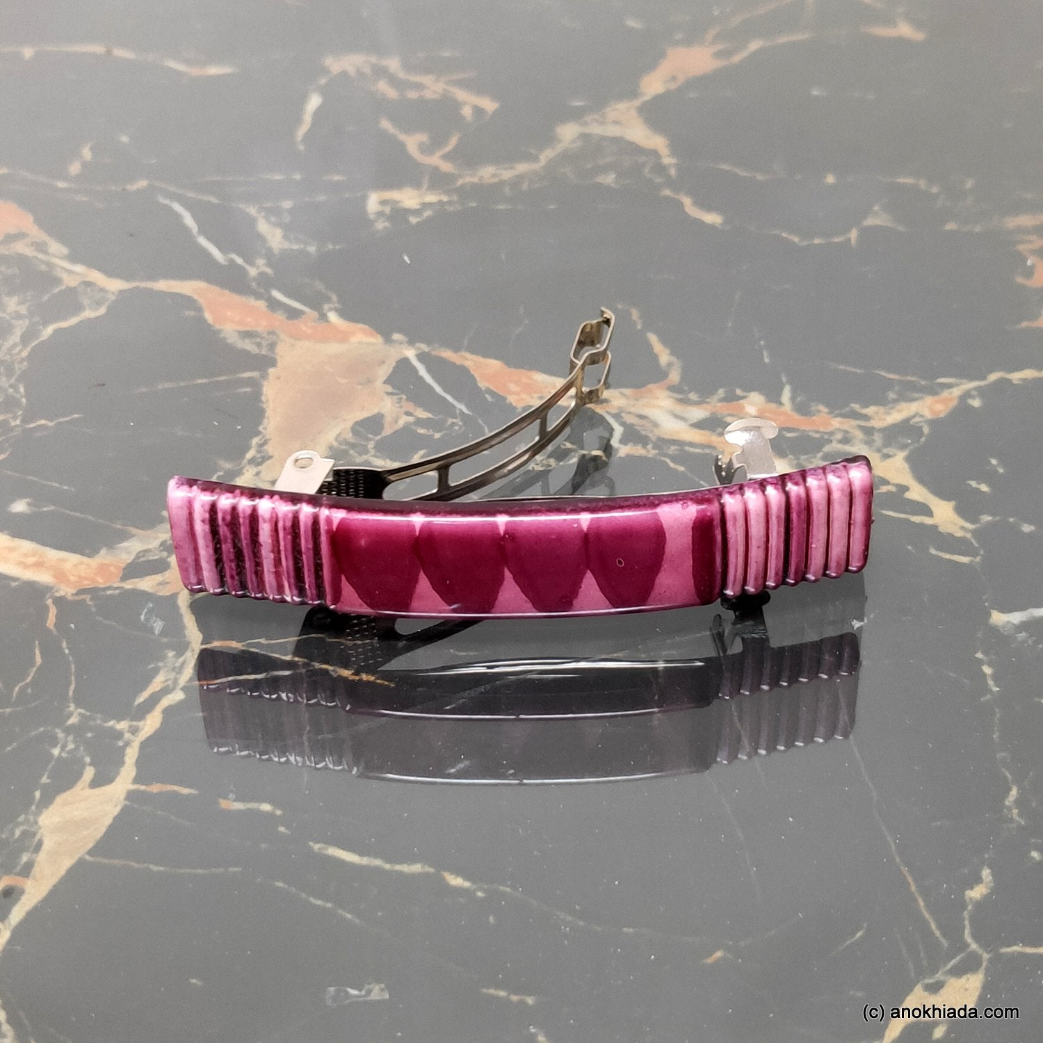 Textured French Barrette Hair Clip for Girls & Woman ( BD-03B )