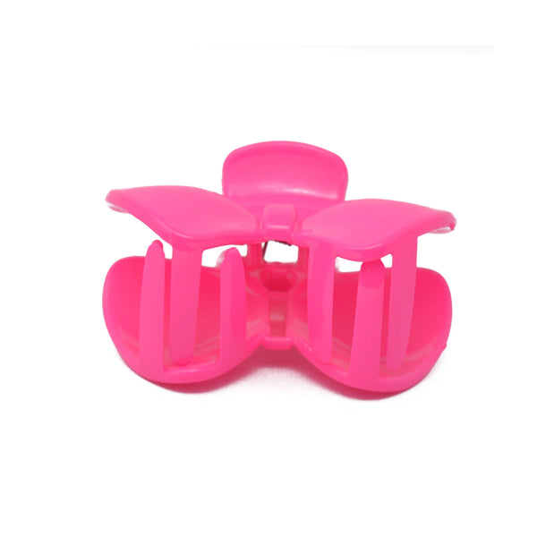 Bow Hair Clutcher for Girls and Women (Fuschia) - 035
